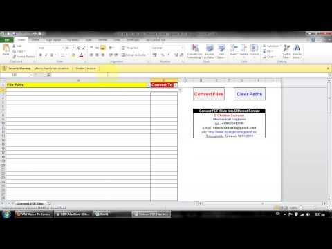 Convert PDF Files Using Adobe Professional And VBA