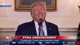 SYRIA DEAL: President Trump Says MAJOR CONFLICT Avoided