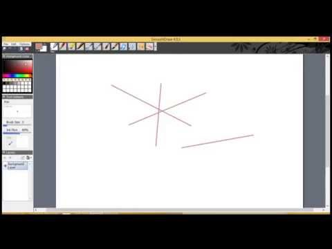 How to draw straight lines in SmoothDraw