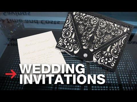 Laser Cut Wedding Invitation | Laser Cutting Paper | Speedy 400