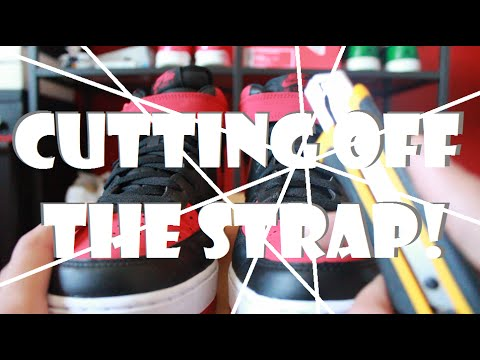 Cutting off the Strap on Nike Air Force 1 (DIY) + ON FEET - SNEAKER TALK