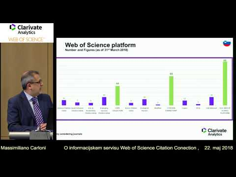 Web of Science Citation Connection and Emerging Sources Citation Index.