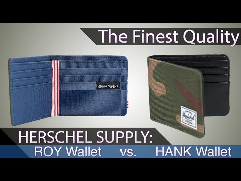 Herschel Supply Co Roy Wallet vs Herschel Hank Wallet