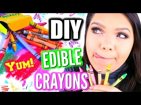 DIY EDIBLE CRAYONS! Crayons You Can Eat!