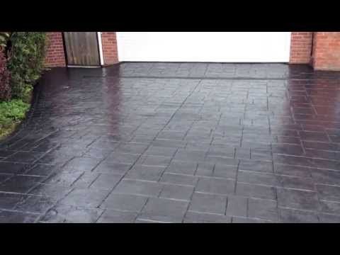 Pattern Imprinted Concrete Driveway Restoration In Bristol