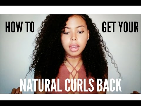 MY CURLY HAIR JOURNEY || HOW TO GET YOUR NATURAL CURLS BACK