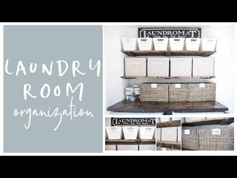 Farmhouse Laundry Room Tour and Organization