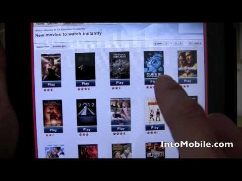 Netflix iPad app demo - Movie and TV show selection