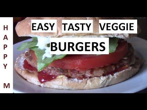Veggie Burgers - Easy & Tasty (No Food Processor - No Problem!)