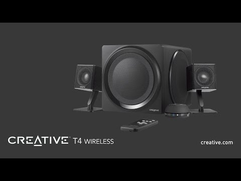 Get connected to Creative T4 Wireless, a wireless 2.1 speaker system with NFC