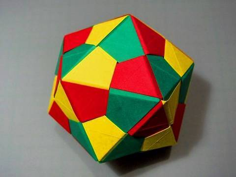 How to make an Origami Icosahedron - Triangle Edge modules
