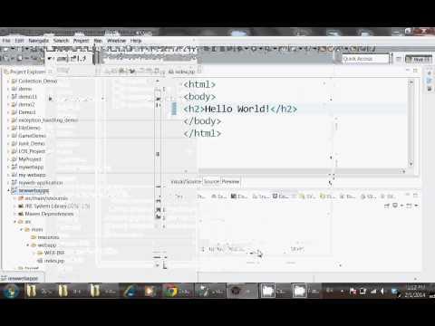 Web Application Development Using Maven with Eclipse