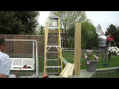 How To Install A Wood Lattice Fence On Your Deck