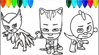 pj masks santa claus coloring pages colouring pages for kids with colored markers