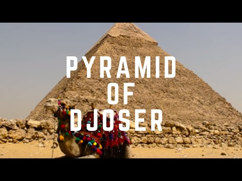Pyramid of Djoser in Sakkara, and the Pyramids in Giza, Cairo, Egypt - Seven Wonders of the World