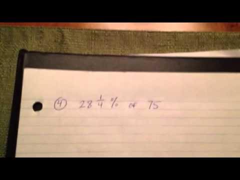 Gr. 8 Math - Percent of a Number using a calculator