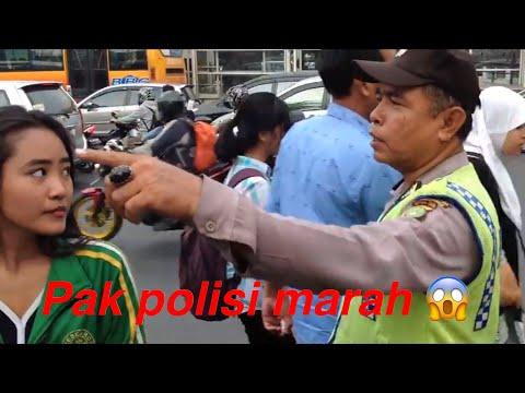 Pak polisi marah saat buat video Yanti dan fitri kacau.!!!