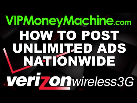 Post Nationwide Ads with Unlimited Verizon IP Addresses