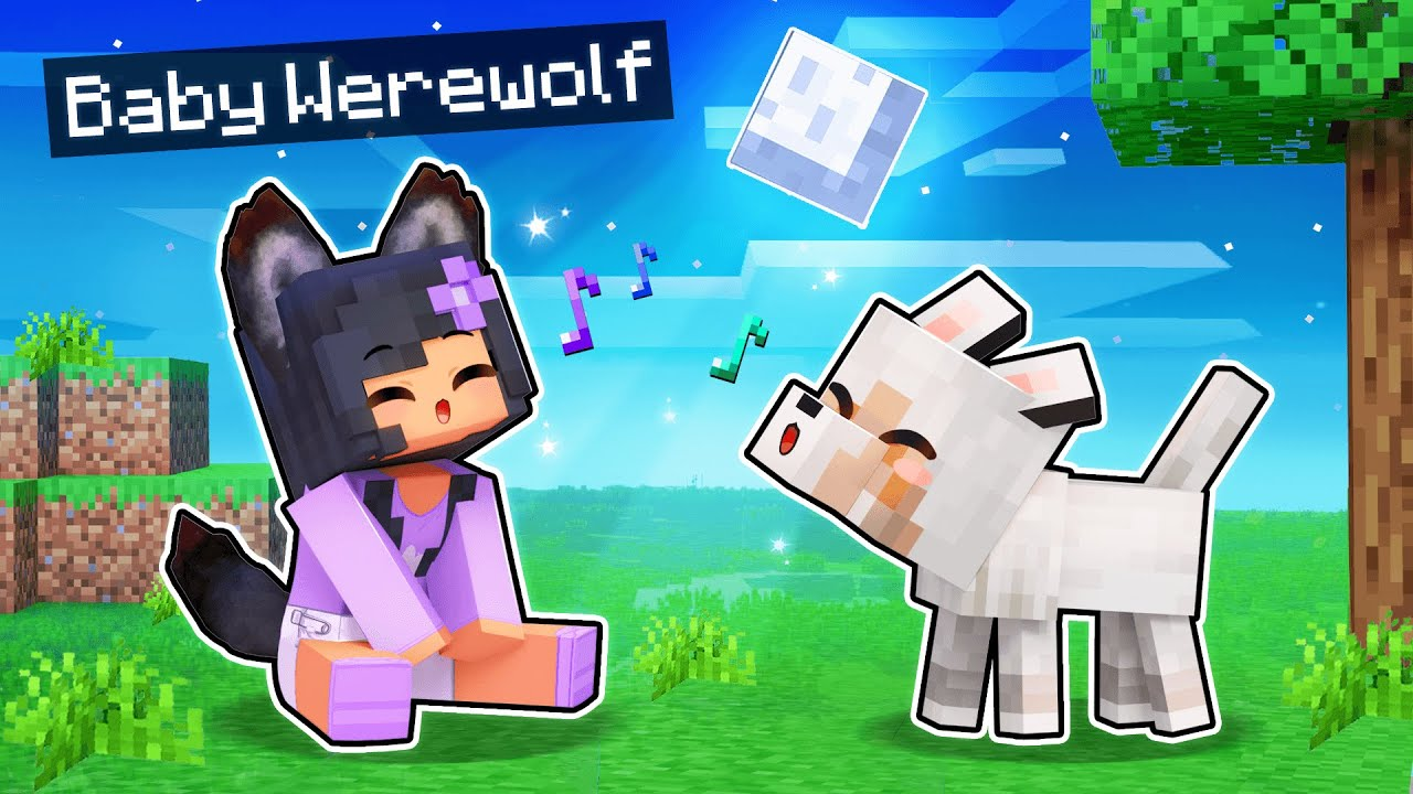 Playing Minecraft As A BABY WEREWOLF!