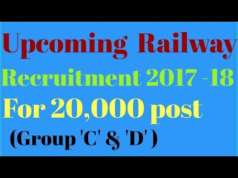 Upcoming Railway Recruitment 2017 -18 .
