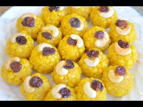 Boondi Laddu Ladoo Video Recipe