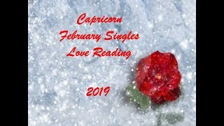 Capricorn February Singles Love Reading 2019 - A LOVE OF A LIFE TIME!