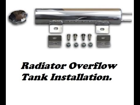 Radiator overflow Catch Can installation