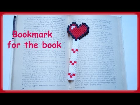 TUTORIAL Hama Beads Pyssla Perler Beads. How to Make Bookmark for the book