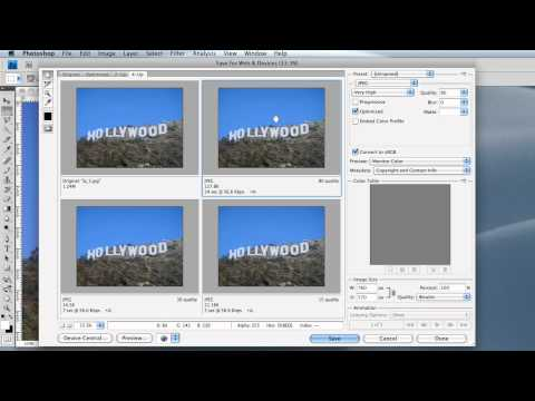 Photoshop Save for Web and Batch Processing
