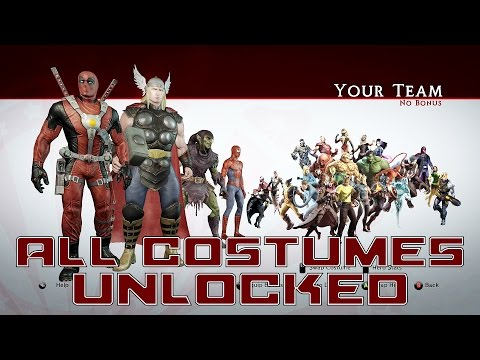 Marvel Ultimate Alliance 2 - All Character Costumes Unlocked!