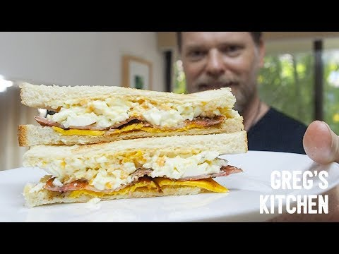 BACON AND EGG-MAYO SANDWICH - Greg's Kitchen