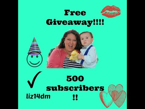 (Closed)FREE GIVEAWAY!! Exciting news!! 500th subscriber giveaway!!!