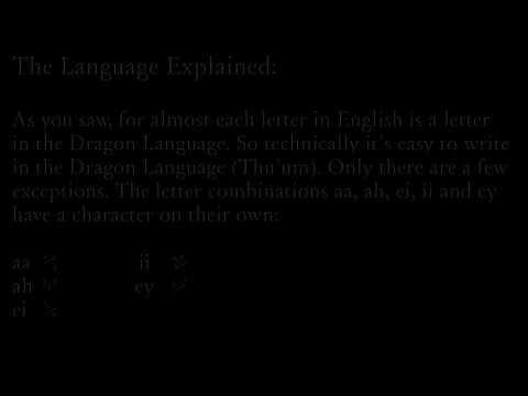 The Elder Scrolls V Skyrim - Dragon Language Tutorial - How to Write it