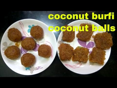 Village style coconut burfi/ village food- traditional village style burfi