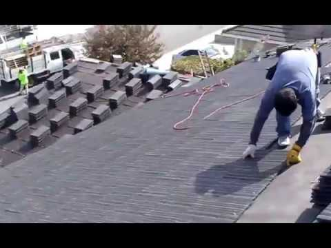Roofing tiles installation, Fastest way to lay concrete roofing tiles, check this out !