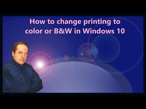 How to change printing to color or B&W in Windows 10