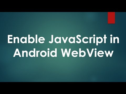 Using JavaScript in Android WebView