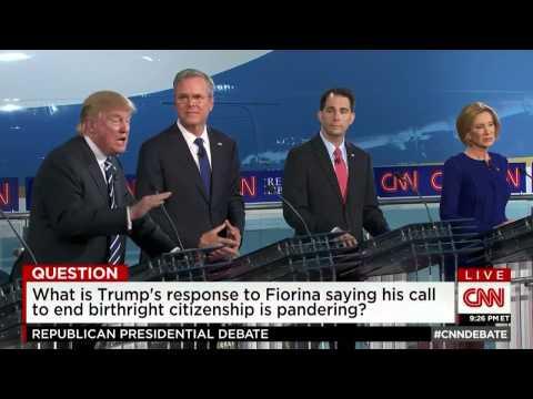 Trump: Birth in the US shouldn't mean automatic citizenship