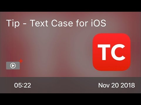 SCOM0788 - Tip - Text Case for iOS