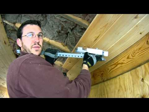 How to install bowed 1x7 Tongue and Groove Pine on the Ceiling - Make a tool!