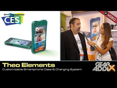 THEO Elements Customizable Smartphone Case & Charging System (CES 2014)