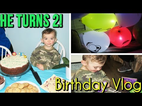 AARON'S 2ND BIRTHDAY | TODDLER TURNS TWO VLOG