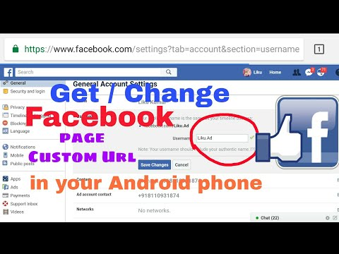 How to change Facebook costume url name 2018