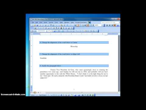 Microsoft Word Test - Self Grading!