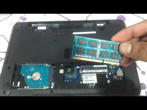 Dell Inspiron 3521 5521 3537 how to upgrade ram and harddrive do it yourself