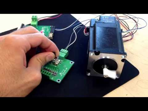 Low Cost Stepper Motor plus Driver with analog speed control and direction change