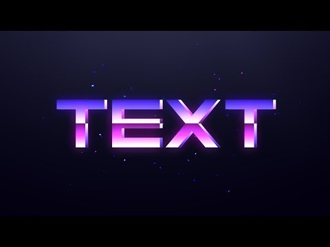RETRO TEXT EFFECT TUTORIAL ON ANDROID (Ps Touch)