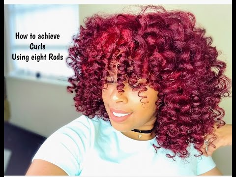 How to achieve curls using only eight perm rods/perm rod cheat