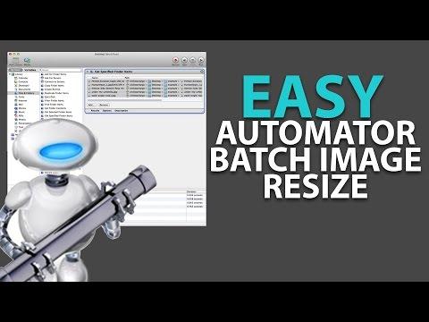 Easy Mac Automator Batch Image Resizing and Naming