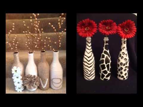 Homemade Diy Glass Bottle Art Pics For Home Decor Ideas  Easy Home Decor Ideas